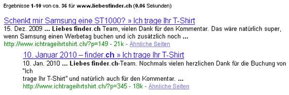 resultate liebesfinder.ch